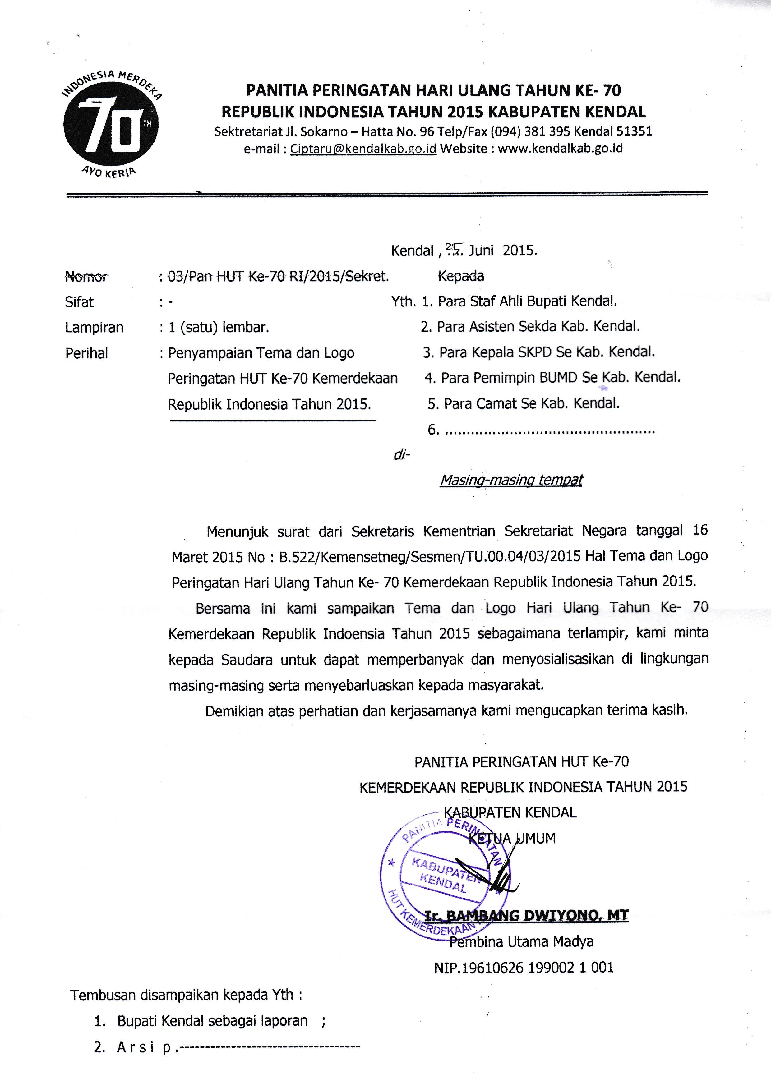 Surat Pemberitahuan Lomba 17 Agustus Kabar Dd